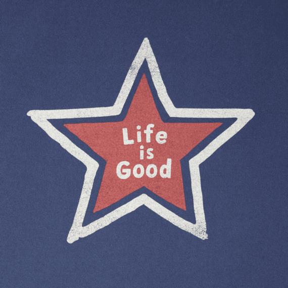 Men's Loose Star Life Is Good Crusher Tee