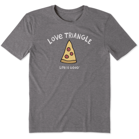 Men's Love Triangle Pizza Cool Tee