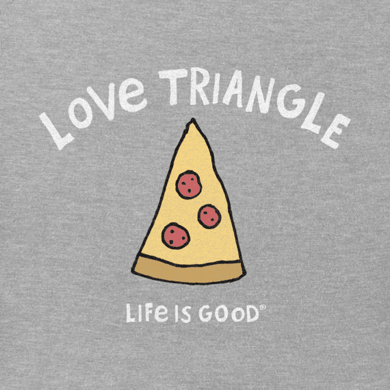Men's Love Triangle Pizza Crusher Tee