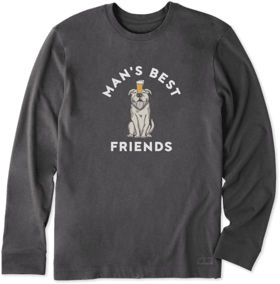 Men's Bark & Beer Long Sleeve Crusher Tee