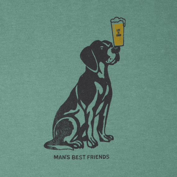 Men's Man's Best Friends Long Sleeve Crusher Tee