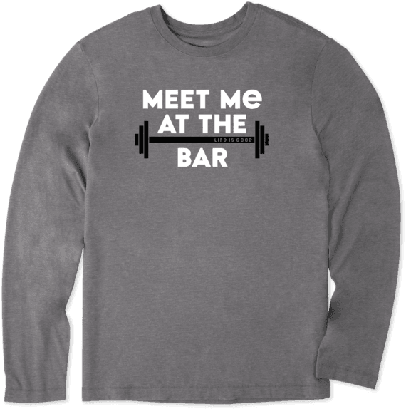 Men's LIG Meet Me At The Bar Long Sleeve Cool Tee