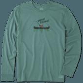 Men's Merry Fishmas Long Sleeve Crusher Tee