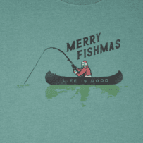 Men's Merry Fishmas Long Sleeve Crusher Tee