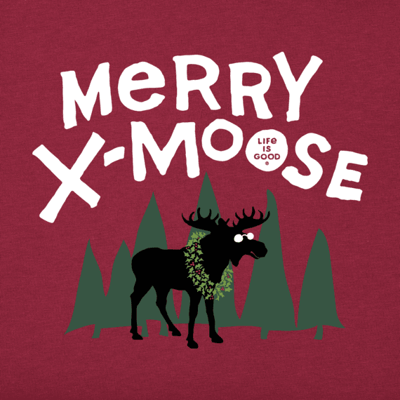 Men's Merry X-Moose Long Sleeve Crusher Tee