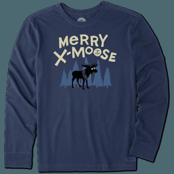 Men's Merry Xmoose Long Sleeve Crusher Tee