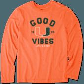 Men's Miami Good Vibes Arc Long Sleeve Cool Tee