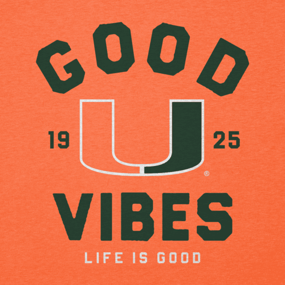 Men's Miami Good Vibes Arc Long Sleeve Cool Tee