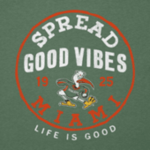 Men's Miami Good Vibes Long Sleeve Cool Tee