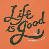 Men's Miami Hurricanes Flourish Lig Cool Tee