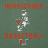 Men's Miami Hurricanes Jake Athlete Long Sleeve Cool Tee