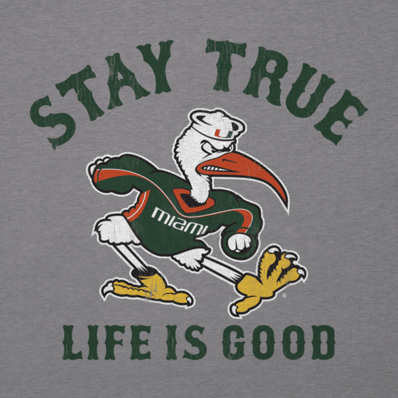 Men's Miami Hurricanes Stay True Long Sleeve Cool Tee
