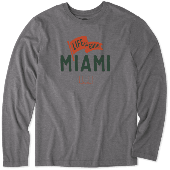 Men's Miami Pennant Long Sleeve Cool Tee
