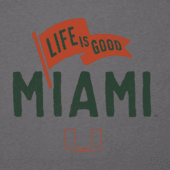 Men's Miami Pennant Long Sleeve Cool Tee