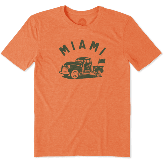 Men's Miami Vintage Truck Cool Tee