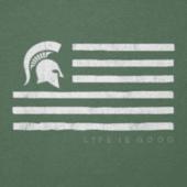 Men's Michigan State Flag Cool Tee