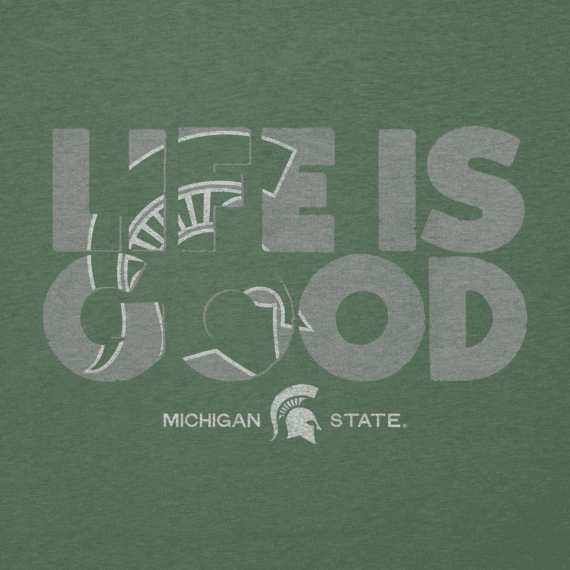Men's Michigan State Life is Good Cool Tee