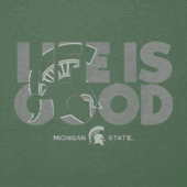 Men's Michigan State Life is Good Cool Tee
