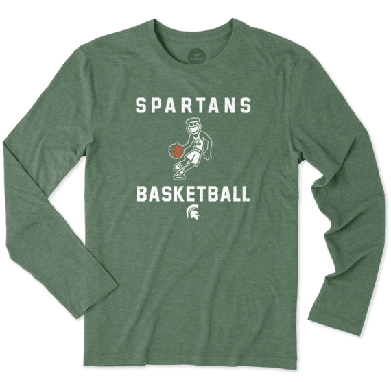Men's Michigan State Spartans Athlete Jake Long Sleeve Cool Tee