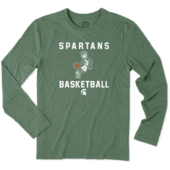 Men's Michigan State Spartans Athlete Jake Long Sleeve Cool Tee