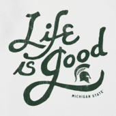 Men's Michigan State Spartans Flourish Lig Cool Tee