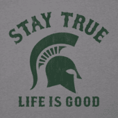 Men's Michigan State Spartans Stay True Long Sleeve Cool Tee