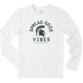 Men's Michigan State Spread Good Vibes Long Sleeve Cool Tee