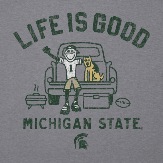 Men's Michigan State Tailgate Truck Long Sleeve Cool Tee