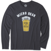 Men's Micro Bear Long Sleeve Smooth Tee