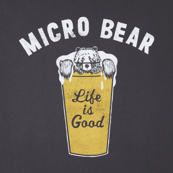 Men's Micro Bear Long Sleeve Smooth Tee