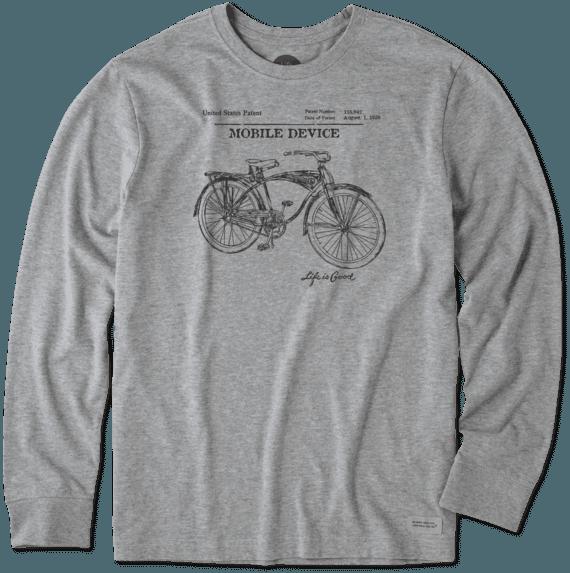 Men's Mobile Device Blueprint Long Sleeve Crusher