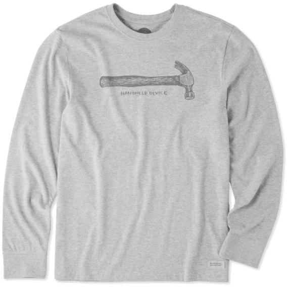 Men's Mobile Device Hammer Long Sleeve Crusher Tee