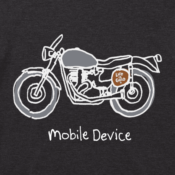 Men's Mobile Device Motorcycle Cool Tee