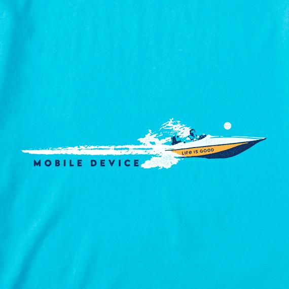 Men's Mobile Device Speedboat Wake Crusher-LITE Tee