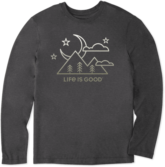 Men's Moon Scenic Long Sleeve Cool Tee