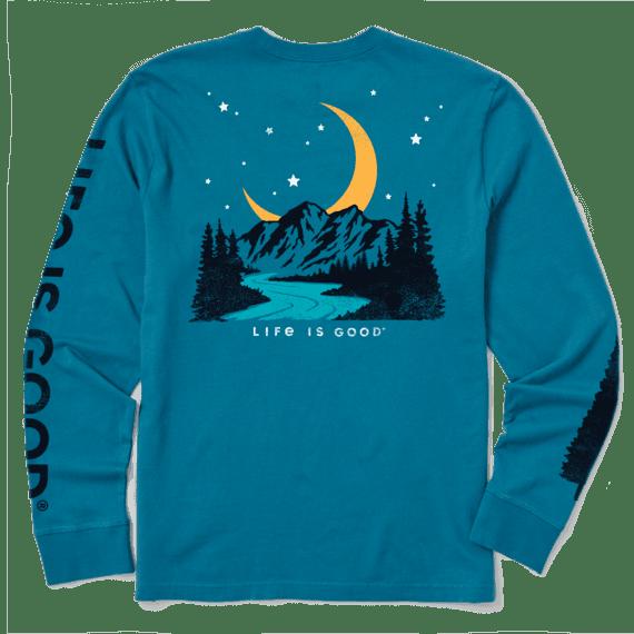 Men's Moon Mountain Long Sleeve Crusher Tee