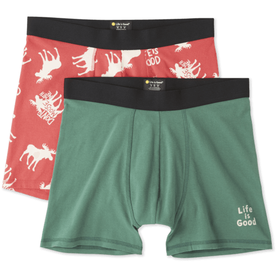 Men's Moose Boxer Pack Boxer Brief Set