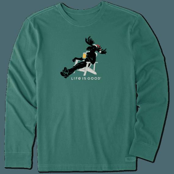 Men's Moose Chill Long Sleeve Crusher Tee