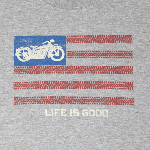 Men's Motorcycle Flag Crusher Tee