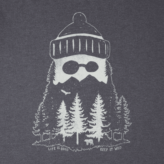 Men's Mountain Beard Long Sleeve Crusher Tee