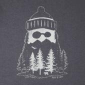 Men's Mountain Beard Long Sleeve Crusher Tee