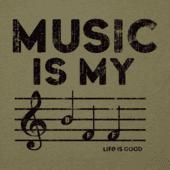 Men's Music Is My BFF Cool Tee