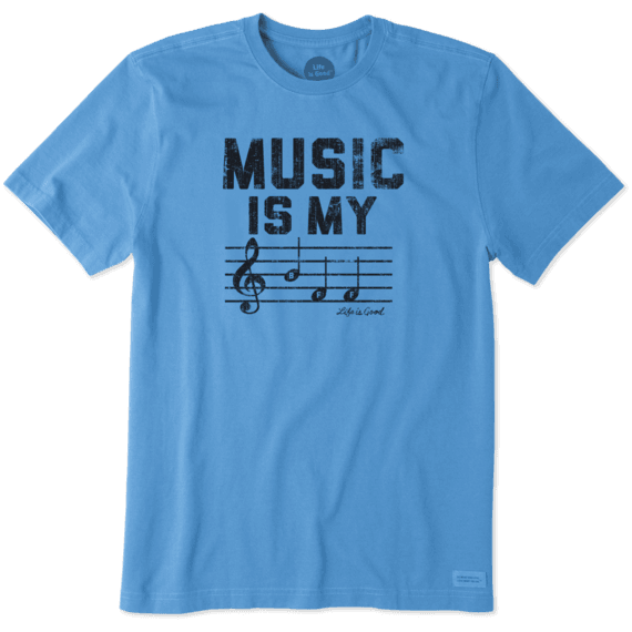 Men's Music Is My BFF Crusher Tee
