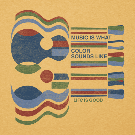 Men's Music Is What Color Sounds Like Cool Tee