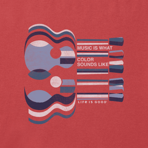 Men's Music is What Color Sounds Like Crusher Tee