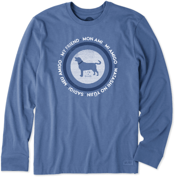 Men's My Friend Long Sleeve Crusher Tee