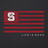 Men's NC State Team Flag Cool Tee