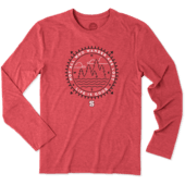 Men's NC State Wander Scene Long Sleeve Cool Tee