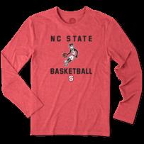 Men's NC State Wolfpack Athlete Jake Long Sleeve Cool Tee