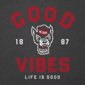 Men's NC State Wolfpack Good Vibes Arc Long Sleeve Cool Tee